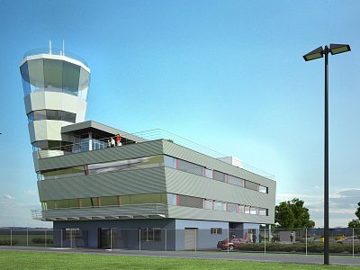 Construction of a new air traffic control tower and operation centre at the Leoš Janáček Airport in Ostrava